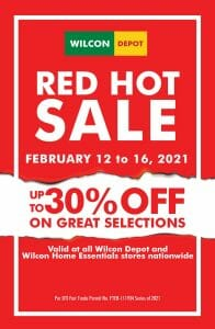 Wilcon Depot - Red Hot Sale: Get Up to 30% Off
