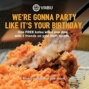 Yabu - Get FREE Katsu on Your Birth Month Promo