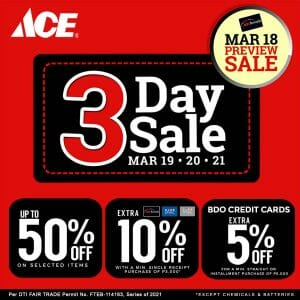 ACE Hardware - 3-Day Sale: Get Up to 50% Off on Selected Items