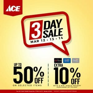 ACE Hardware - 3-Day Sale: Get Up to 50% Off Selected Items