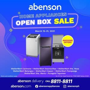 Abenson - Home Appliances Open Box Sale: Get Up to 50% Off
