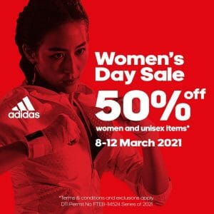 Adidas - Women's Day Sale: Get 50% Off Women and Unisex Items