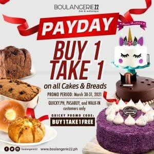 Boulangerie22 - Buy 1 Take 1 on All Cakes & Breads