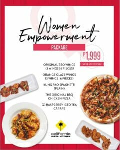 California Pizza Kitchen - Women Empowerment Package for ₱1,999 (Save ₱262)