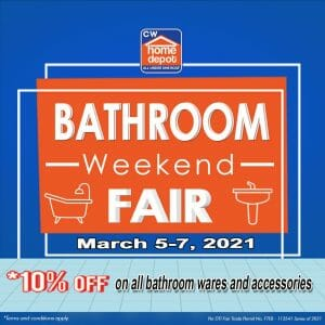 CW Home Depot - Get 10% Off on All Bathroom Wares and Accessories
