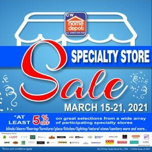 CW Home Depot - Specialty Store Sale