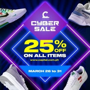 Capital PH - Cyber Sale: Get 25% Off All Items