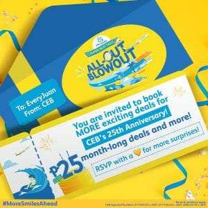 Cebu Pacific - All-Out Blowout Super Seat Fest for ₱25