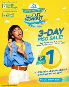 Cebu Pacific - 3.3 Deal: 3-Day Piso Sale Promo