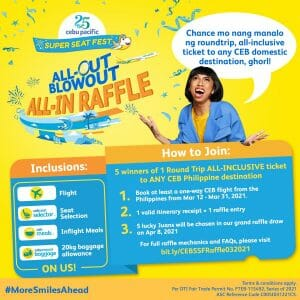 Cebu Pacific - All-Out Blowout All-In Raffle Promo