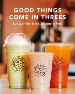 Coffee Bean & Tea Leaf - Buy 2 Get 1 Drink Promo