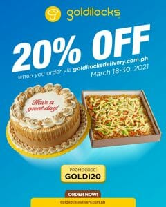 Goldilocks - Get 20% Off on Online Orders