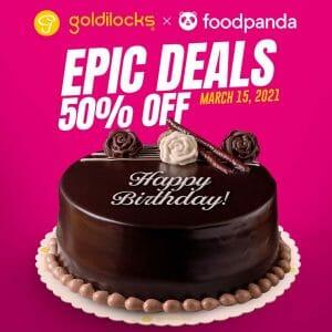 Goldilocks - Epic Deals: Get 50% Off via Foodpanda