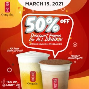 Gong cha - Get 50% Off for All Drinks via Botty