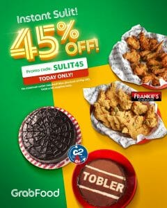 GrabFood - Get 45% Off on Frankie's and Cake2Go Orders