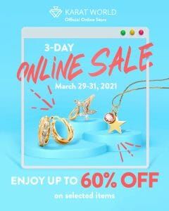 Karat World - 3-Day Online Sale: Get Up to 60% Off on Selected Items