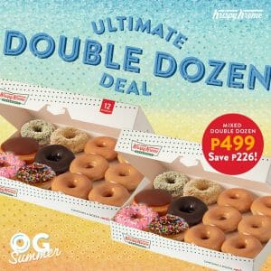 Krispy Kreme - Get a Mixed Double Dozen for ₱499 (Save ₱226)