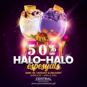 Kuya J Restaurant - Get 50% Off Halo-Halo-Espesyal via Central Delivery