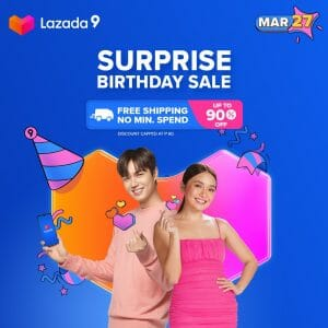 Lazada - Surprise Birthday Sale: Get Up to 90% Off + FREE Shipping