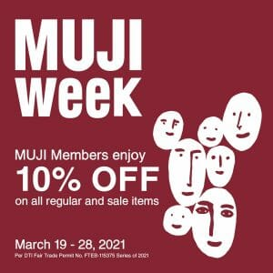 MUJI - Members Get 10% Off on Regular and Sale Items