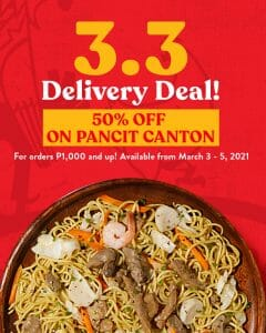 Max's Restaurant - 3.3 Deal: Get 50% Off on Pancit Canton