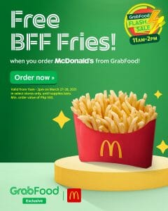 McDonald's - Get FREE BFF Fries When You Order via GrabFood