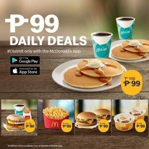 McDonald's - Get ₱99 Daily Deals Exclusive on the McDonald's App