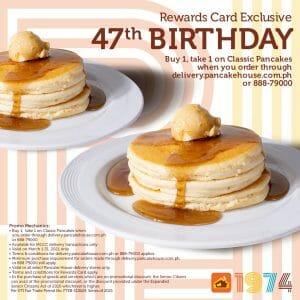 Pancake House - Rewards Card Exclusive: Buy 1 Take 1 Classic Pancakes