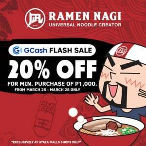 Ramen Nagi - GCash Flash Sale: Get 20% Off