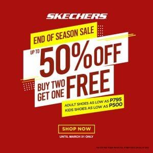 Skechers - End of Season Sale: Get Up to 50% Off + Buy 2 Get 1 Promo