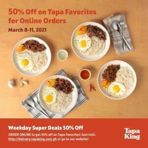 Tapa King - Get 50% Off on Online Orders