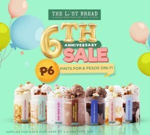 The Lost Bread - 6th Anniversary Sale: Ice Cream Pints for ₱6