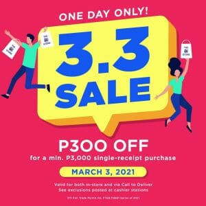 The SM Store - 3.3 Deal: Get ₱300 Off