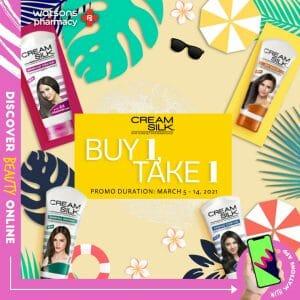 Watsons - Buy 1 Take 1 on Cream Silk Products