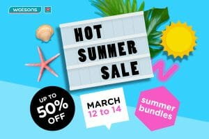 Watsons - Hot Summer Sale: Get Up to 50% Off and Buy 1 Take 1