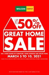 Wilcon Depot - Great Home Sale: Get Up to 50% Off