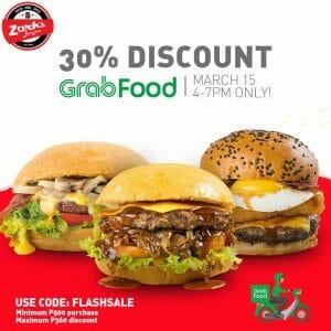 Zark's Burgers - GrabFood Flash Sale: Get Up to 30% Off