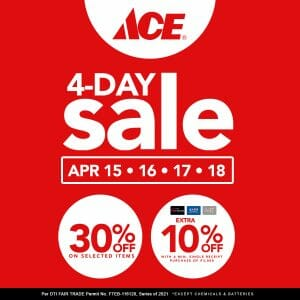 ACE Hardware - 4-Day Sale: Get 30% Off on Selected Items