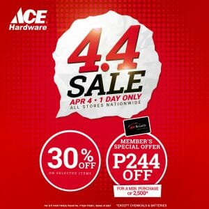 Ace Hardware - 4.4 Deal: Get 30% Off on Selected Items