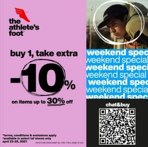 The Athlete's Foot - Weekend Special: Buy 1 Take an Extra 10% Off