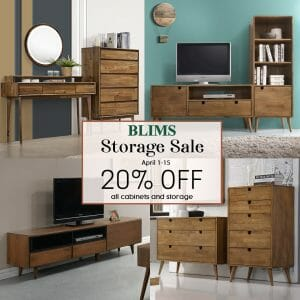 BLIMS - Storage Sale: Get 20% Off on All Cabinets and Storage