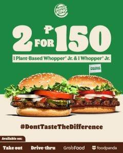 Burger King - 2 for ₱150 Whopper Jr. Promo