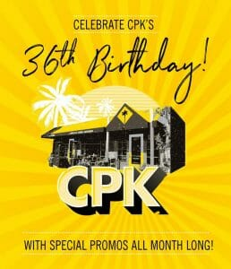 California Pizza Kitchen - 36th Birthday Special Promos
