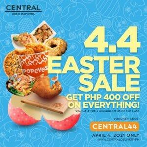 Central Delivery - 4.4 Easter Sale: Get ₱400 Off Promo