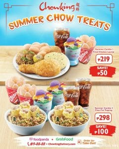 Chowking - Summer Chow Treats: Save Up to ₱100