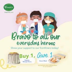 Conti's - Buy 1 Give 1 Mango Bravo Promo