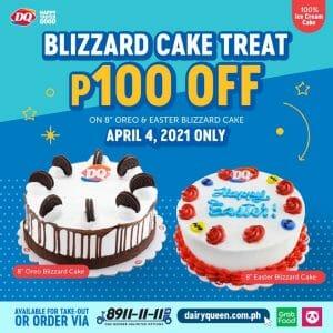 Dairy Queen - Blizzard Cake Treat: Get ₱100 Off