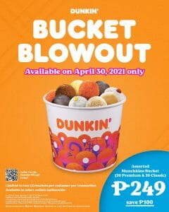 Dunkin Donuts - Bucket Blowout + FREE Delivery Promo
