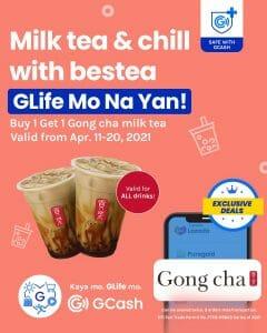 Gong cha - Buy 1 Get 1 Milk Tea via GLife