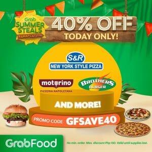 GrabFood - April 14 Summer Steals Promo: Get 40% Off